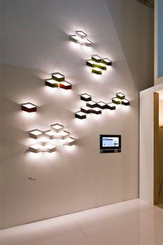 Fold by VIBIA - a Qbert-ish fun LED sconce