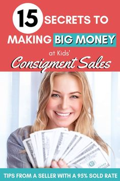 Do you want to make money selling at a kids' consignment sale? Check out these tips from an experience consignment sale seller who sold of her items. Learn the secrets to making big money at kids consignment sales! Ways To Save Money, Money Tips, Money Saving Tips, How To Make Money, Money Hacks, Frugal Living Tips, Frugal Tips, Big Money, Extra Money