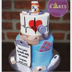 Cake Wrecks Sunday Sweet: Sunday Sweets for Mom Cake Wrecks, Fondant Cakes, Cupcake Cakes, Pharmacy Cake, Nursing Graduation Cakes, Nursing Party, Medical Cake, Decors Pate A Sucre, Doctor Cake