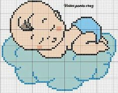 Cross Stitch Owl, Baby Cross Stitch Patterns, Cross Stitch Designs, Cross Stitching, Cross Stitch Embroidery, Knitting Charts, Baby Knitting Patterns, Baby Boy Knitting, Baby Bonnets