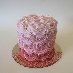 Ombre Pink Rosettes