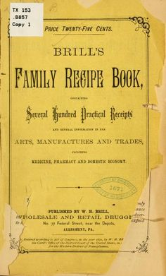 Brill's family recipe book