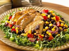 20 Not-Boring Chicken Dinners: Chili-Grilled Chicken Salad  http://www.prevention.com/food/healthy-recipes/30-minute-not-boring-chicken-recipes?s=6#.