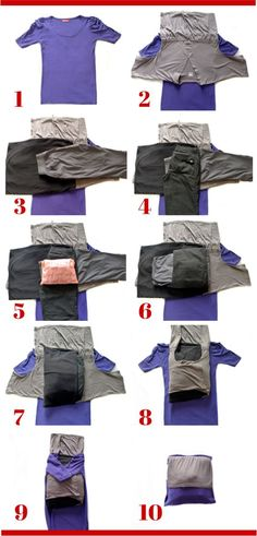 How to Prevent Wrinkles When Packing - Bundle wrapping step by step. Click to the site to read more: http://herpackinglist.com/2013/09/how-to-prevent-wrinkles/ #herpackinglist #packingtips
