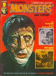 2 Famous Monsters, Horror Comics, Spanish, Comic Books, Frankenstein, Magazines, Art, Vampires, Monsters