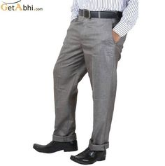 http://tinyurl.com/mk7ap4e Make a cool and Unique By Wearing this Grey Color Formal hemp Trouser. Its features has a zip fly, Wear these Trouser with a contrast coloured casual shirt