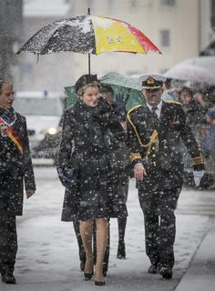 King Philippe and Queen Mathilde attend a commemoration ceremony organized by the city of Bastogne to mark the 70th anniversary of the Battle of the Bulge. 13/12/2014