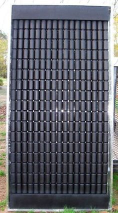 Solar panel made of pop cans
