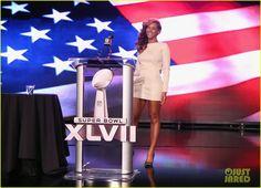 Beyonce: National Anthem Live at Super Bowl Press Conference! (Video)