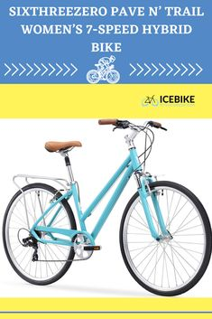 "Weight: 33.5 lbs Frame: Aluminum Wheel Size: 26"" Suspension: Hardtail Gears: 7-speed #bikes #roadbikes #mountainbikes #hybridbikes #electricbikes #comportbikes Bicycle Types, Road Bikes, Aluminum Wheels, Mountain Biking, Women, Types Of Bicycles, Woman"