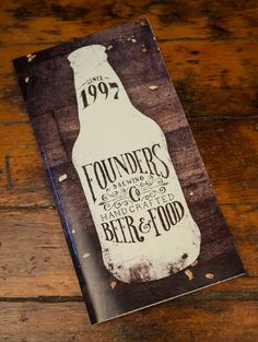 Founders Brewing Co. Menu - Scott Schermer