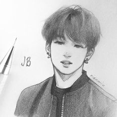 Lovely drawing of Im Jae-bum (임재범) also known as JB (제이비) of GOT7. | Credit for art goes to xianmiu.
