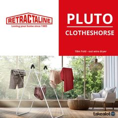 The pluto is of airing space on Clothes Dryer, Clothes Horse, Wings Design, Love Your Home, Small Storage, Gull, The Struts, In The Heights, South Africa
