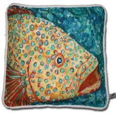 My Island - Spotted Grouper Fish Pillow