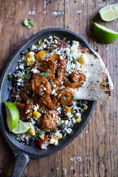 Chipotle Enchilada Shrimp with Rice and Beans | halfbakedharvest.com @hbharvest