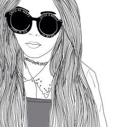 girl, outline, and grunge image Tumblr Hipster, Tumblr Bff, Frases Tumblr, Tumblr Girl Drawing, Tumblr Drawings, Sketch Style, Girl Sketch, Mulan And Shang, Outline Drawings