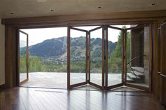 Luxurious bifolding door that provides seamless transition from interior to exterior.