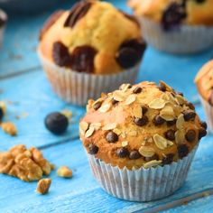 Standard Muffin Recipe – A plain muffin batter is added to a muffin tin, then you can add your favorite flavors (fruit, nuts, chocolate, etc.) to each muffin. Great for kids and guests because everyone gets to choose the type of muffin they want. Plain Muffin Recipe, Muffin Tin Recipes, Healthy Muffin Recipes, Cupcake Recipes, Baking Recipes, Dessert Recipes, Muffin Batter Recipe, Best Muffin Recipe, Healthy Muffins