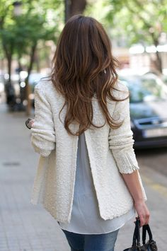 ♥ this uniquely-styled sweater jacket.
