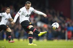 Super strike: Rooney's strike against West Ham in March was named United's goal of the sea...