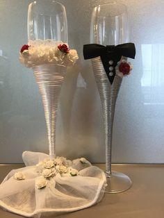 #CiZan#Hochzeit#Sektglas#Geschenk#Selfmade