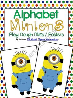 AlphaMINIONS Alphabet Minions for Tracing/Posters/Play Dough Pre-K-2 from SeaofKnowledge on TeachersNotebook.com -  (32 pages)  - This unit was created for at home/school practice. There are many ways to use these posters and who doesn't love minions! =D  What's included: - 1 page poster (in uppercase and lowercase form) for each letter.  Check out the preview thumbnails f