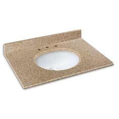 Pegasus, 37 in. W Granite Vanity Top in Beige with White Basin, 37682 at The Home Depot - Mobile