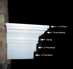 build your own mantle - Google Search Mantel Shelf, Diy Fireplace Mantel, Build A Fireplace, Fireplace Update, Fireplace Design, Fireplace Remodel, How To Build A Mantle, Building A Mantle, Fireplace Molding