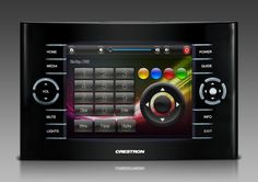 Home theater remote control touchscreen graphics by NTDesigns. Smarthomes, home automation, home cinema, gui design, Crestron, AMX, RTI, URC, Control4.