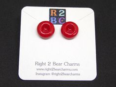 Red Blood Cell Earrings by Right2BearCharms on Etsy