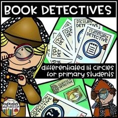 Book Detectives - Lit Circles for Primary Students. Literature circles are a fun, engaging, and motivating way for students to talk about their reading. Many of the typical literature circle roles and routines can be overwhelming for our little learners...