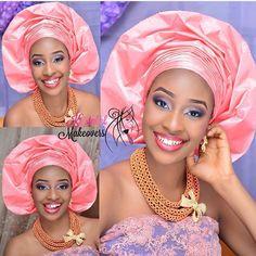 Aso Oke Gélé headwrap attaché foulard ~African fashion, Ankara, kitenge, African women dresses, African prints, Braids, Nigerian wedding, Ghanaian fashion, African wedding ~DKK