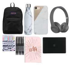 """""""Flight freaking essentials"""" by jashlee-1 on Polyvore featuring JanSport, S'well, Native Union and Tucano"""