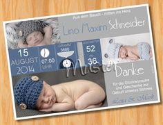 GEBURTSKARTE - 1278 individuelle Produkte aus der Kategorie: Baby   DaWanda