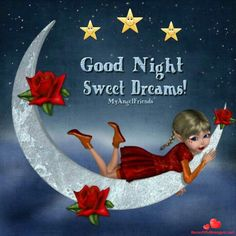 Good night sister and all, sweet dreams,♥★♥. Good Night Sister, Good Night Beautiful, Good Night I Love You, Good Night Sweet Dreams, Good Night Moon, Good Night Image, Good Night Quotes, Good Morning Good Night, Night Qoutes