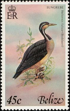 Sungrebe stamps - mainly images - gallery format