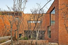 Image 17 of 31 from gallery of Fortress Brick House / Wise Architecture. Photograph by Roh Kyung Brick Architecture, Architecture Photo, Brickwork, Being A Landlord, The Neighbourhood, Scenery, Exterior, Cabin, Landscape