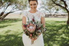 Beauty rich and rare: Native Australian bridal bouquets