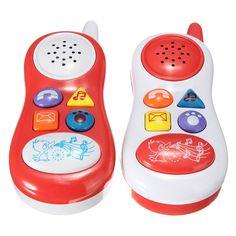 Juguetes Para bebés Niños Juguetes Educativos de Aprendizaje Estudio de Sonido Musical de Teléfono Celular Teléfono para Niños Color Al Azar