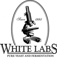 White Labs Logo. white is usually used for sterility. thats why most doctors wear white.