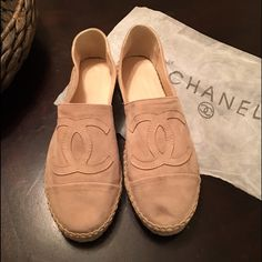 NewNude Suede Espadrilles  New suede espadrilles super trendy and so fashionable, size 38 but runs like 7.5  they are not authentic but are a copy of the really ones, no difference between them, no one will guess that they are not real! You will love it for sure offers accepted CHANEL Shoes Espadrilles