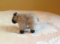 Needle felted sheep soft sculpture wool roving #Zibbet
