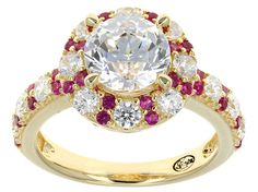 Remy Rotenier For Bella Luce (R) 5.24ctw Lab Created Ruby & Diamond Simulant Eterno (Tm) Yellow Ring