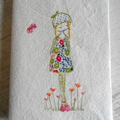 hand embroidered covered journal by LiliPopo on Etsy