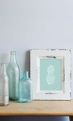 Pineapples mean welcome, right!? Then warmly welcome guests to your beach house with this simple - yet elegant - mint pineapple instant download print. Easy to print. High on style. It's a simple at that!