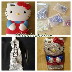 Hello Kitty bejeweled 3D iPhone case - DIY