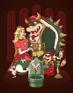 Mario x Beauty n the Beast.