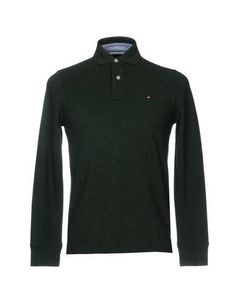 TOMMY HILFIGER Men's Polo shirt Military green XS INT