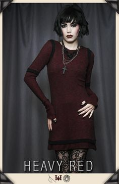 LINGERING THOUGHTS GOTHIC RED TUNIC by Heavy Red      Yes Please!