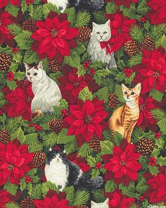 Christmas Time - Winter Whiskers - Holly Green